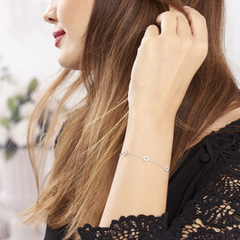 Bracelet Ciara Argent Blanc Oxyde De Zirconium - Bracelets fantaisie Femme | Histoire d'Or