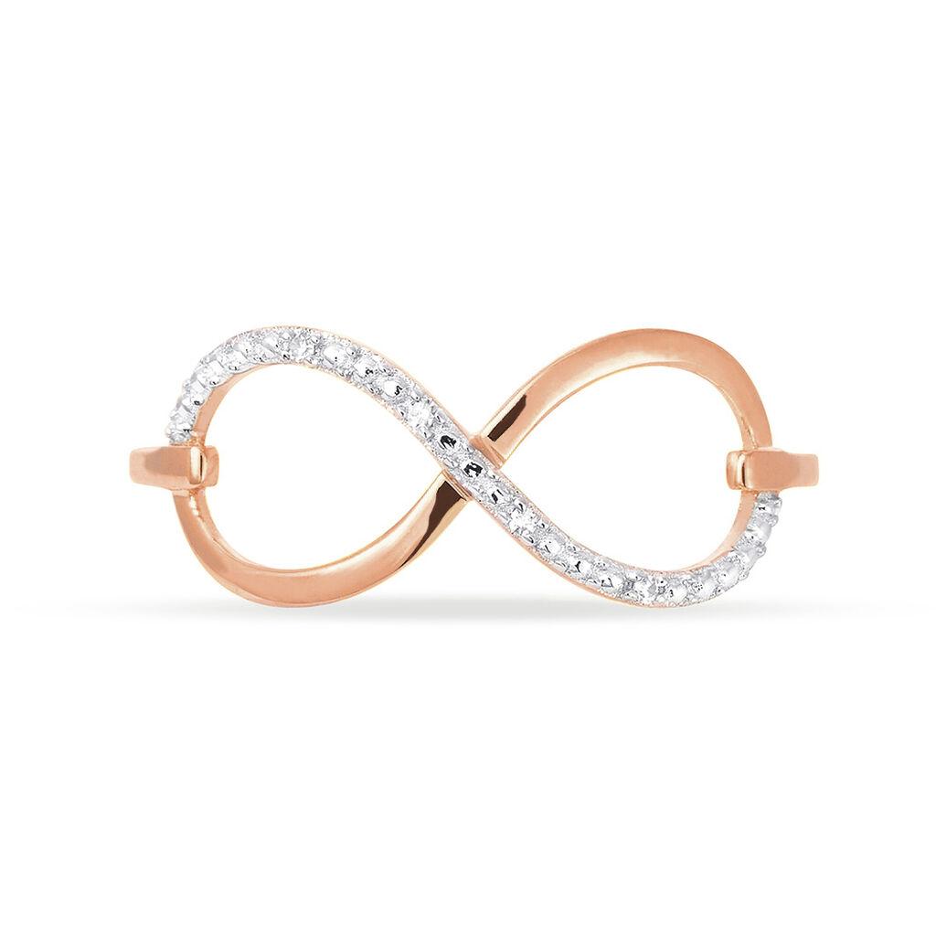 Bague Anais Or Rose Diamant - Bagues Infini Femme   Histoire d'Or