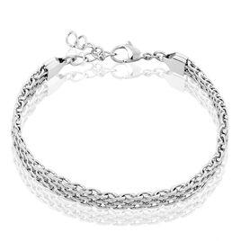 Bracelet Metropolitan Maille Fantaisie Acier Blanc - Bracelets fantaisie Femme | Histoire d'Or