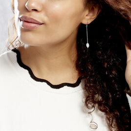 Boucles D'oreilles Pendantes Sirene Argent Blanc Nacre - Boucles d'oreilles fantaisie Femme | Histoire d'Or