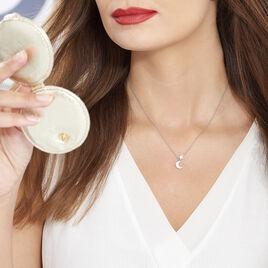 Collier Theoline Argent Blanc Oxyde De Zirconium - Colliers Etoile Femme | Histoire d'Or