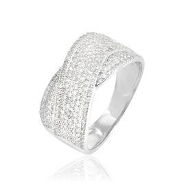 Bague Elyne Or Blanc Diamant - Bagues avec pierre Femme | Histoire d'Or