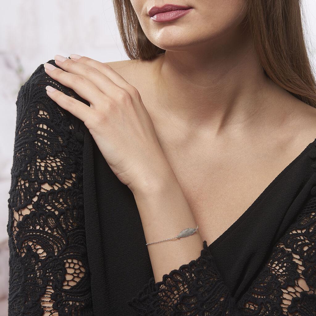 Bracelet Euriell Argent Blanc - Bracelets Plume Femme   Histoire d'Or