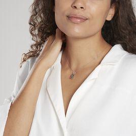 Pendentif Tiki Argent Blanc Onyx - Pendentifs Femme | Histoire d'Or