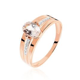 Bague Milna Or Rose Morganite Et Diamant - Bagues solitaires Femme | Histoire d'Or