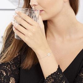 Bracelet Argent Rhodie Elenza Pastille Etoile - Bijoux Etoile Femme   Histoire d'Or