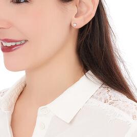 Boucles D'oreilles Argent Puce Cœur - Boucles d'oreilles fantaisie Femme | Histoire d'Or