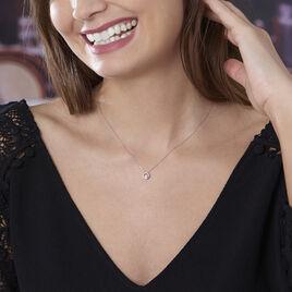 Collier Fidelia Or Blanc Diamant - Bijoux Femme   Histoire d'Or