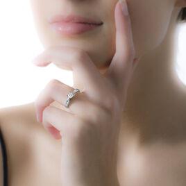 Bague Solitaire Loren Or Blanc Diamant - Bagues solitaires Femme | Histoire d'Or