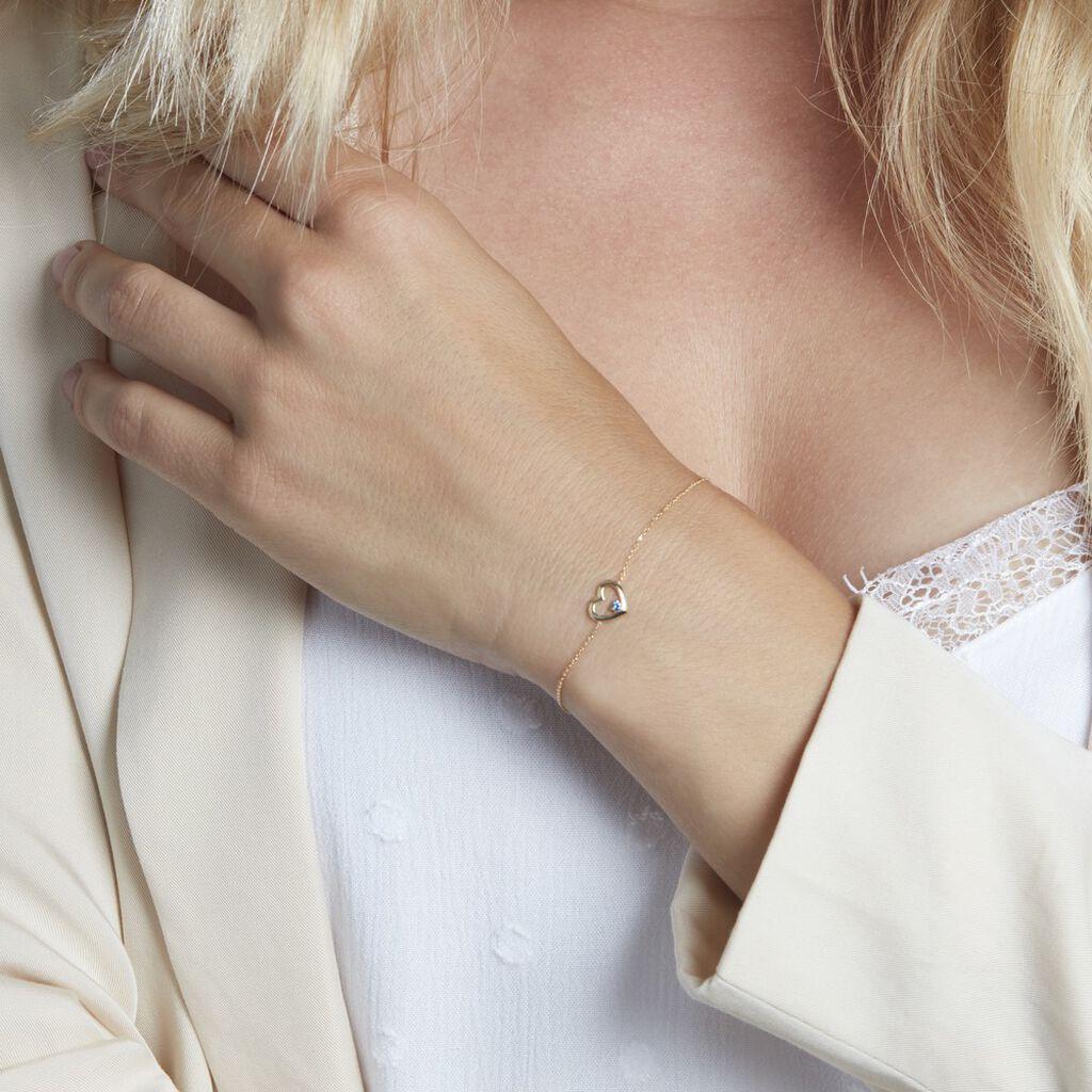 Bracelet Martella Or Jaune Saphir - Bracelets Coeur Femme | Histoire d'Or