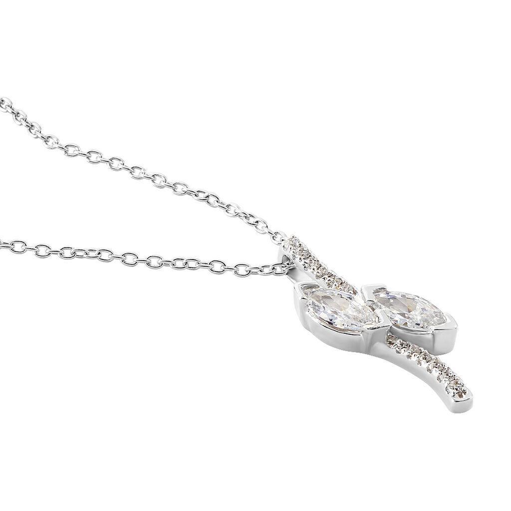 Collier Nevarte Argent Blanc Oxyde De Zirconium - Colliers fantaisie Femme | Histoire d'Or