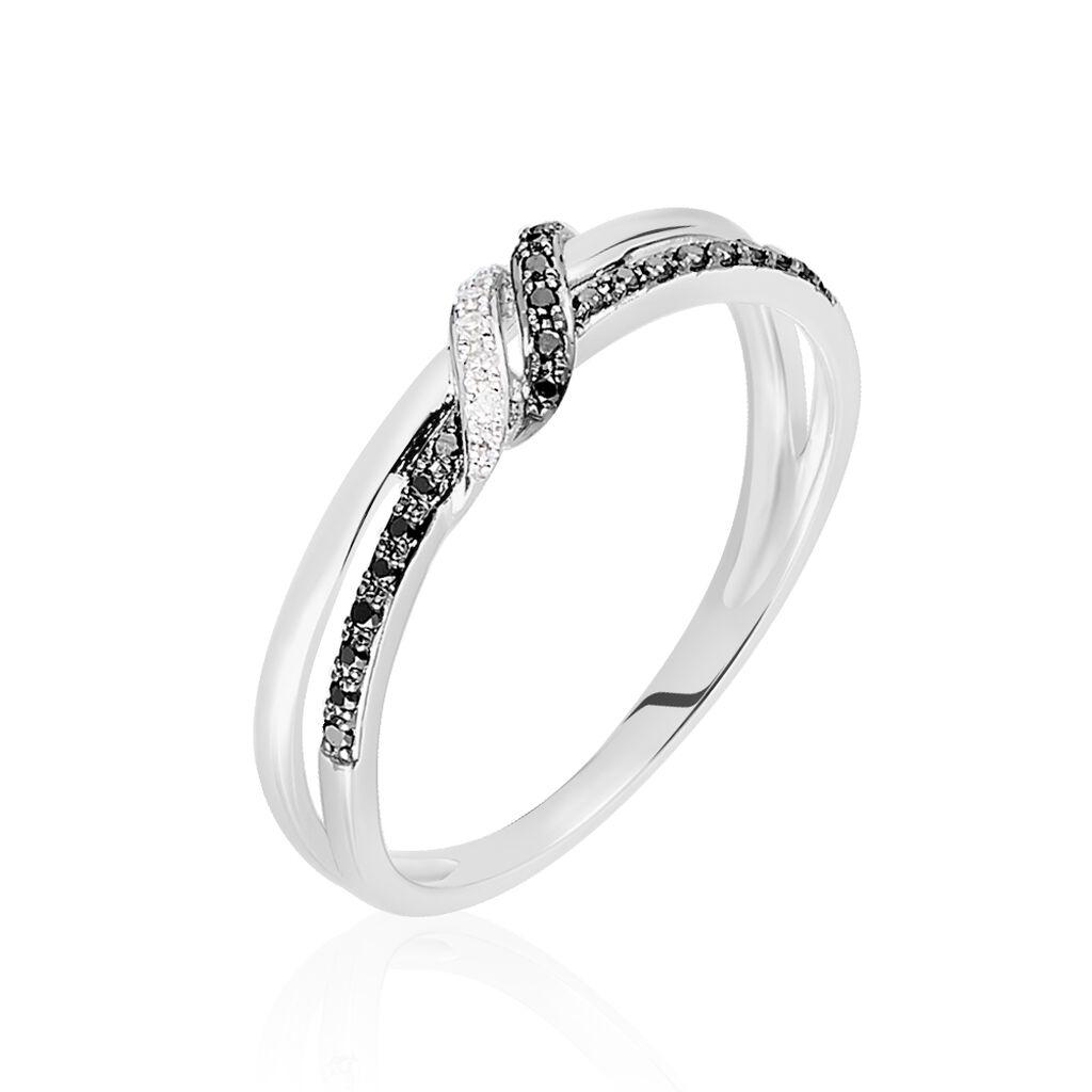 Bague Marina Or Blanc Diamant - Bagues avec pierre Femme | Histoire d'Or