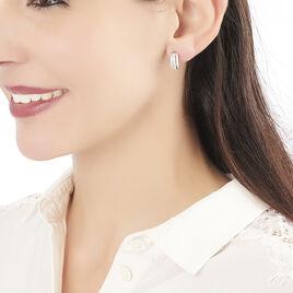 Boucles D'oreilles Pendantes Bizance Argent Blanc Oxyde De Zirconium - Boucles d'oreilles créoles Femme | Histoire d'Or