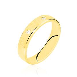Alliance Defne Or Jaune Diamant - Alliances Unisex   Histoire d'Or