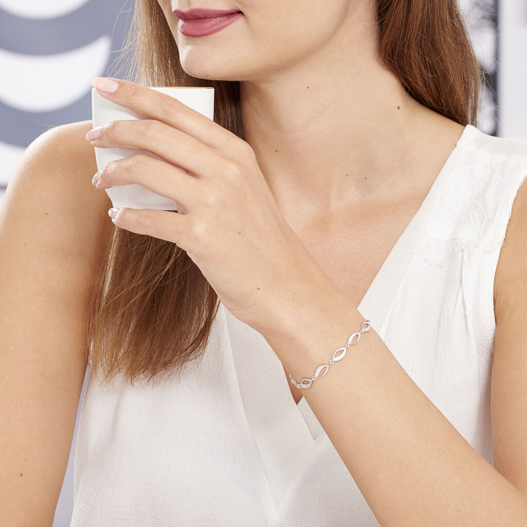 Bracelet Tulin Argent Blanc Oxyde De Zirconium - Bracelets Infini Femme   Histoire d'Or