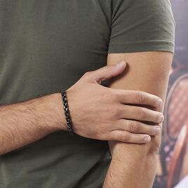 Bracelet Ethan Acier Noir - Bracelets fantaisie Homme   Histoire d'Or
