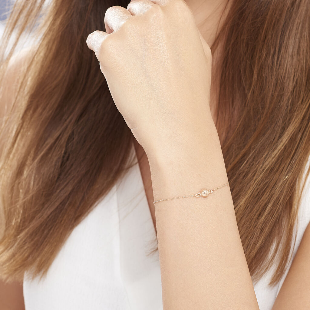 Bracelet Bilao Argent Rose - Bracelets fantaisie Femme   Histoire d'Or