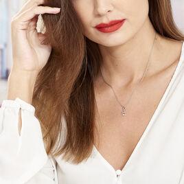 Collier Roma Argent Blanc Oxyde De Zirconium - Colliers Coeur Femme | Histoire d'Or
