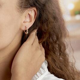 Créoles Tehanie Plaque Or Jaune - Boucles d'oreilles créoles Famille   Histoire d'Or