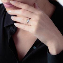 Bague Delphine Or Bicolore Diamant - Bagues avec pierre Femme | Histoire d'Or