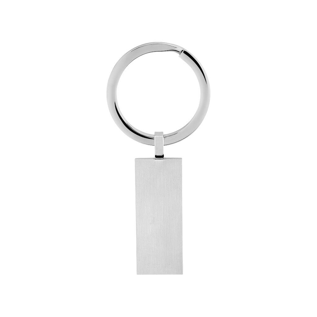 Porte Clefs Clement Acier Blanc Oxyde De Zirconium - Autres bijoux Homme | Histoire d'Or