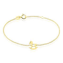 Bracelet Sofia Cheval A Bascule Or Jaune - Bracelets Naissance Enfant | Histoire d'Or