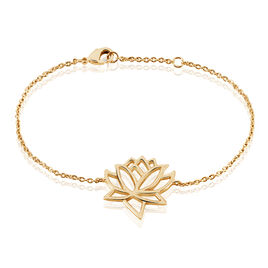 Bracelet Fuji Plaque Or Jaune - Bracelets fantaisie Femme | Histoire d'Or