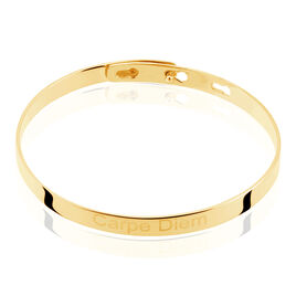 Bracelet Jonc Gravita Argent Jaune - Bracelets fantaisie Femme | Histoire d'Or
