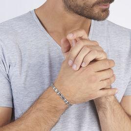 Bracelet Lucien Acier Blanc - Bracelets fantaisie Homme | Histoire d'Or