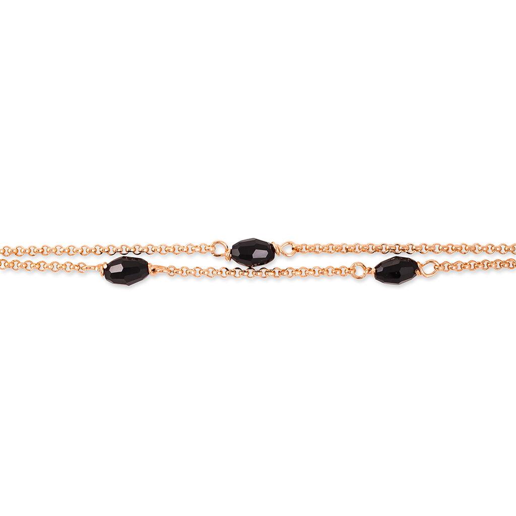 Bracelet Diamantine Argent Rose Pierre De Synthese - Bracelets fantaisie Femme   Histoire d'Or