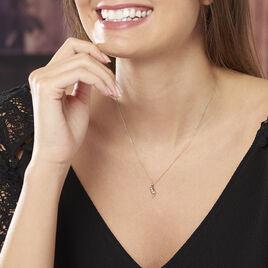 Collier Caline Or Jaune Diamant - Colliers Plume Femme   Histoire d'Or