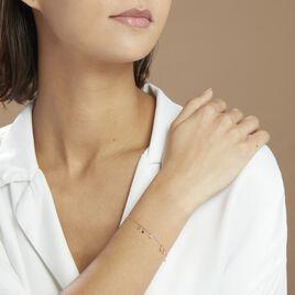 Bracelet Fares Argent Rose Spinelle - Bracelets fantaisie Femme   Histoire d'Or