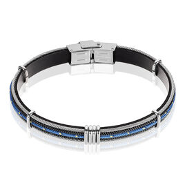 Bracelet Acier Cable Cordon Bleu - Bracelets cordon Homme | Histoire d'Or