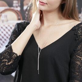 Collier Lou-ann Argent Blanc Oxyde De Zirconium - Bijoux Femme | Histoire d'Or
