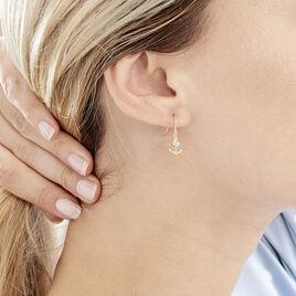 Boucles D'oreilles Pendantes Garsendis Plaque Or Pierre De Synthese - Bijoux Ancre Femme | Histoire d'Or