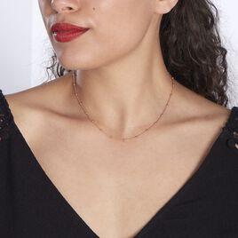Collier Elea Argent Rose - Colliers fantaisie Femme   Histoire d'Or
