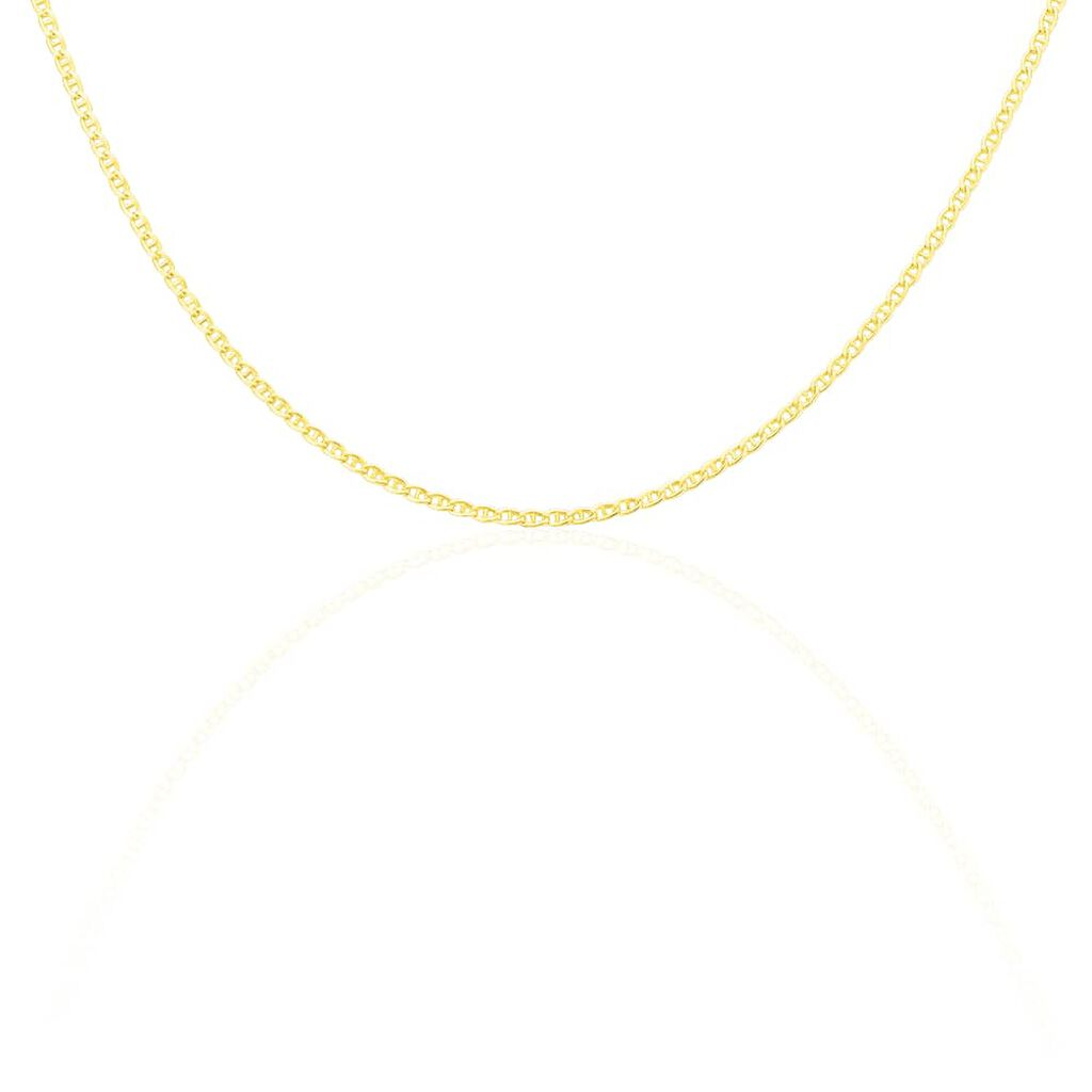 Collier Capucin Or Jaune Maille Marine Plate - Chaines Femme   Histoire d'Or
