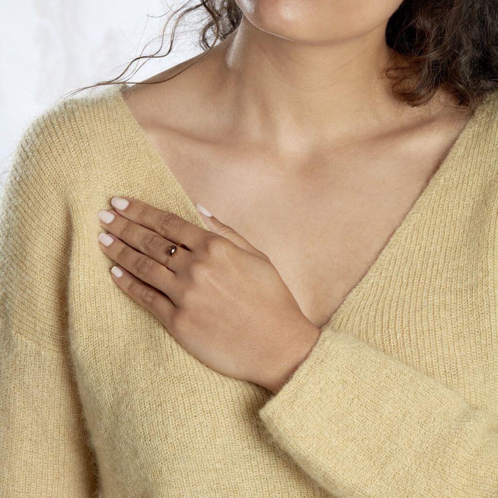 Bague Stella Or Rose Quartz - Bagues solitaires Femme | Histoire d'Or