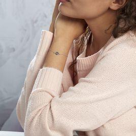 Bracelet Shereen Argent Blanc - Bracelets Infini Femme | Histoire d'Or