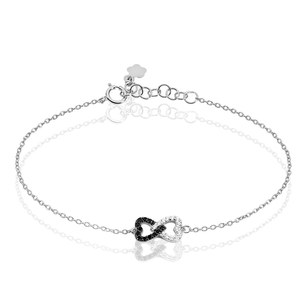 Bracelet Marcella Argent Blanc Oxyde De Zirconium - Bracelets Coeur Femme   Histoire d'Or