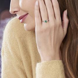 Bague Edgina Or Blanc Emeraude Et Diamant - Bagues solitaires Femme | Histoire d'Or