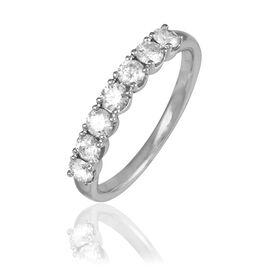 Demi-alliance Platine Eloise Diamants - Alliances Femme | Histoire d'Or