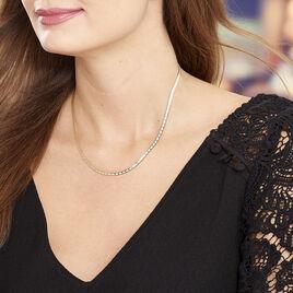 Collier Nuriaae Maille Heringbone Argent Jaune - Colliers fantaisie Femme | Histoire d'Or
