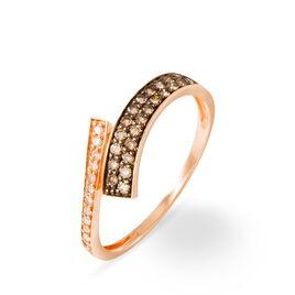 Bague Amelie Or Rose Diamant - Bagues avec pierre Femme   Histoire d'Or