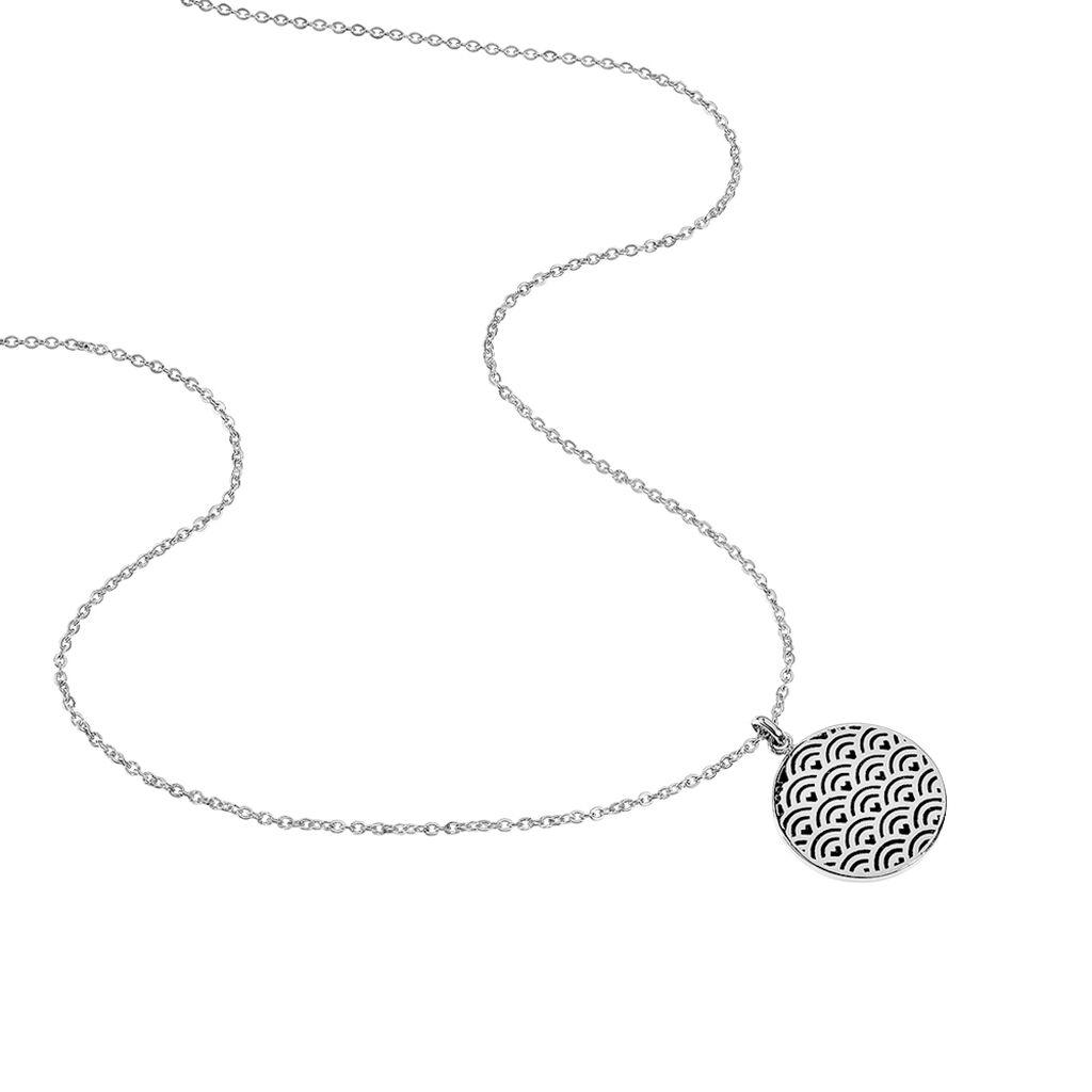 Collier Hoshi Acier Blanc - Colliers fantaisie Femme | Histoire d'Or