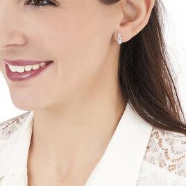 Boucles D'oreilles Pendantes Berenice Or Blanc Topaze Et Oxyde - Boucles d'oreilles pendantes Femme | Histoire d'Or