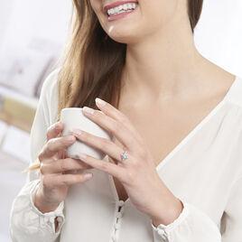 Bague Amance Or Blanc Topaze Et Oxyde De Zirconium - Bagues avec pierre Femme | Histoire d'Or