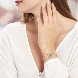 Bracelet Jonc Varia Plaque Or Jaune Oxyde De Zirconium - Bracelets fantaisie Femme | Histoire d'Or