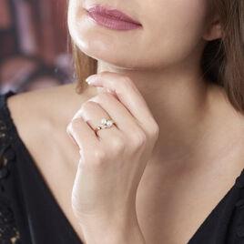 Bague Or Jaune Toi Et Moi Perles Oxydes - Bagues avec pierre Femme | Histoire d'Or