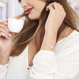 Bracelet Betti Argent Blanc Oxyde De Zirconium - Bracelets Coeur Femme | Histoire d'Or